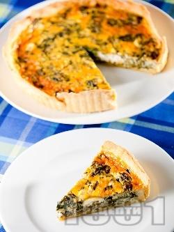 Спаначен пай със сирене Фета  и сметана - снимка на рецептата